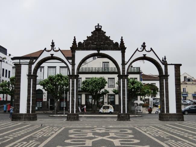 Rainy Walk Through Ponta Delgada