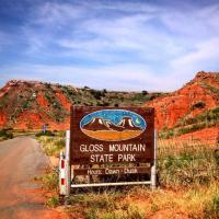 gloss mountain state park sign