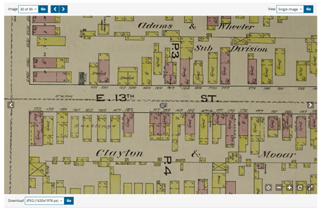 How to Use the Library of Congress  New Sanborn Maps for Genealogy     Elizabeth s home is mostly pink and some yellow  with numbers and Xes  and  the notation    no opgs    on the side  You ll find a key on the index map page  and
