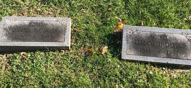 Davies headstones death records