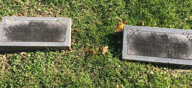 Davies headstones death records