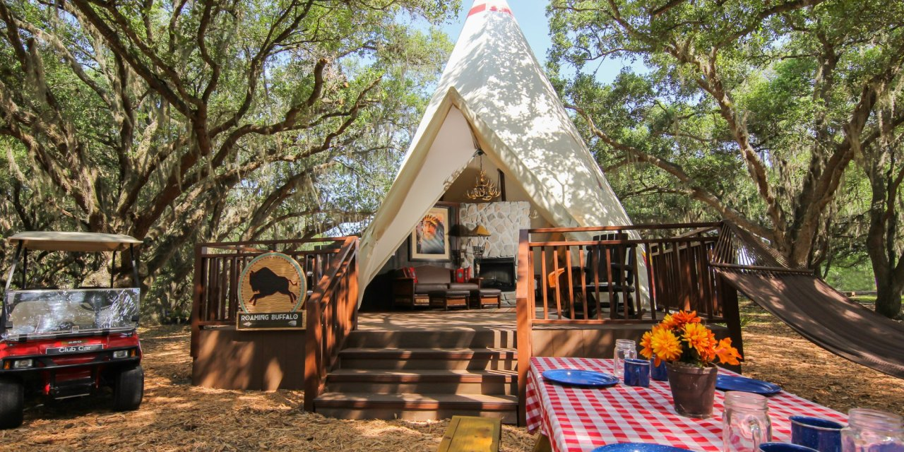Teepees at Westgate River Ranch; Courtesy of Westgate River Ranch
