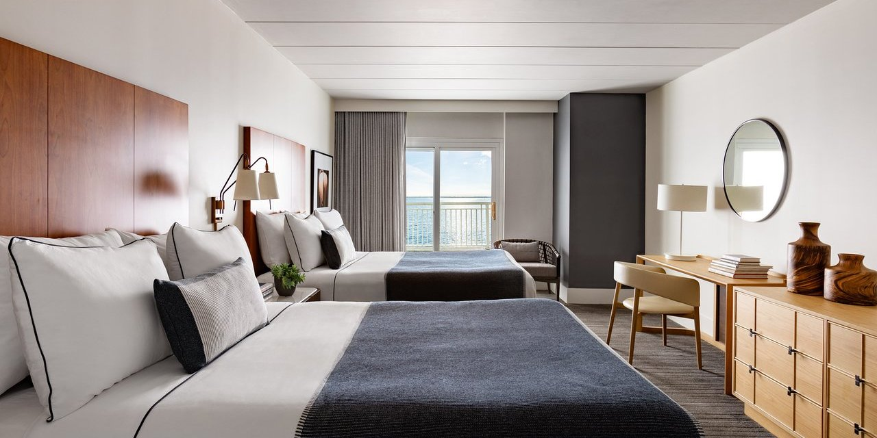 Guestroom at Gurney's Newport Resort; Courtesy of Gurney's Newport Resort
