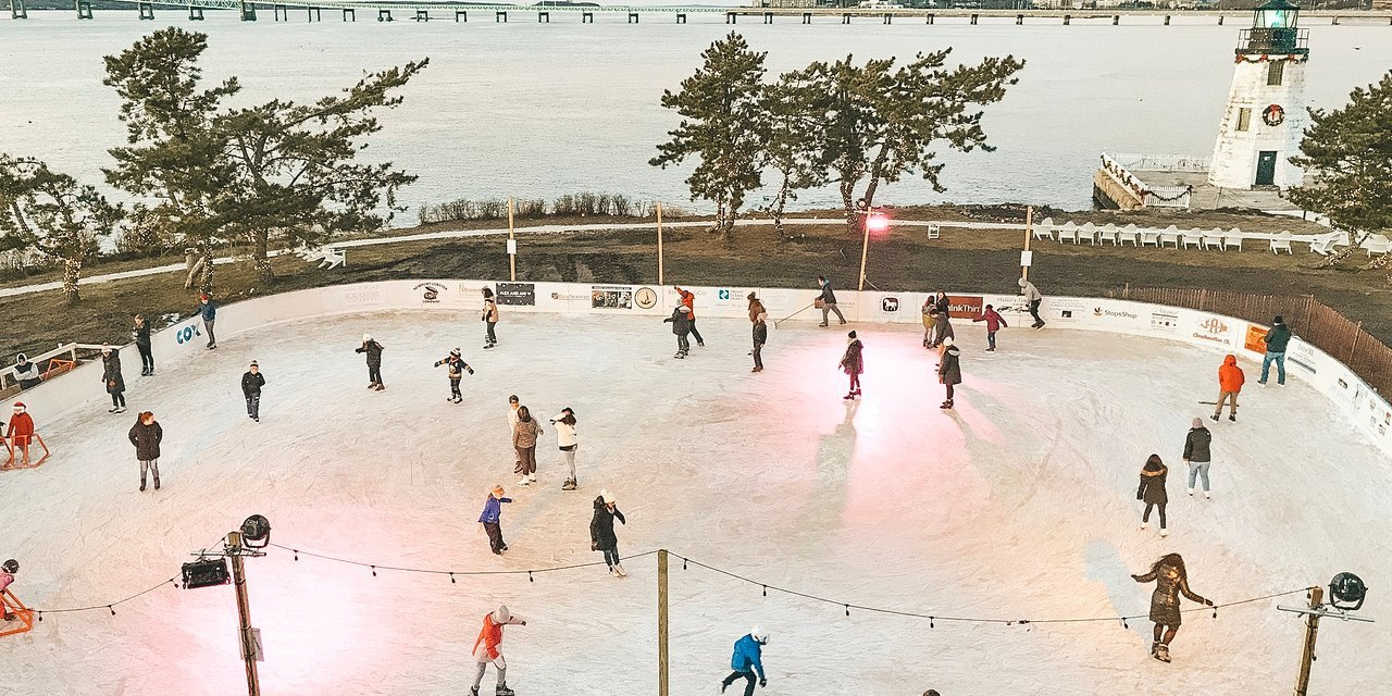 Ice Skating Rink at Gurney's Newport Resort; Courtesy of Gurney's Newport Resort