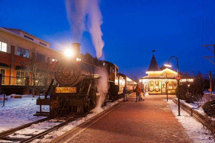 New Hope & Ivyland Railroad's North Pole Express; Courtesy of Visit Bucks County