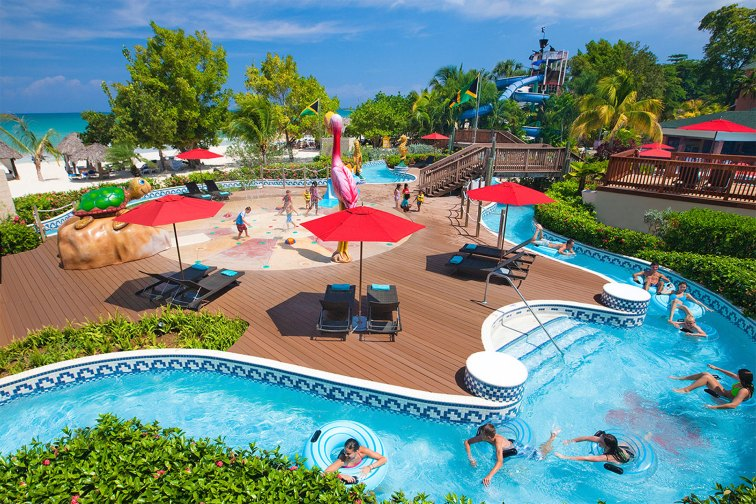 Water Park at Beaches Negril; Courtesy of Beaches Negril