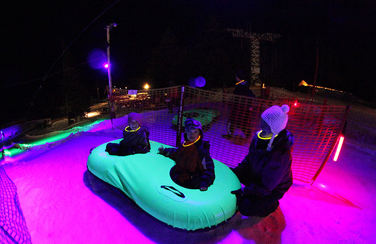 Cosmic Tubing at Mt. Hood Ski Bowl in Government Camp, OR