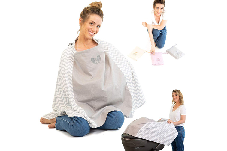 woman wearing nursing cover; Courtesy of Amazon