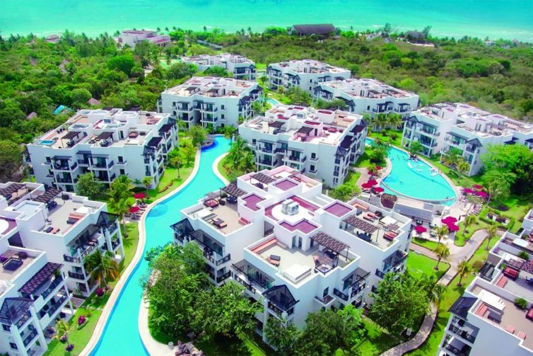 Aerial view of Azul Fives Hotel; Courtesy of Azul Fives Hotel