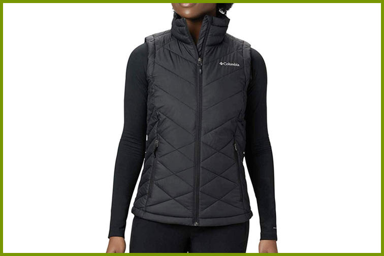 Columbia Women's Heavenly Water Resistant Insulated Vest; Courtesy of Amazon