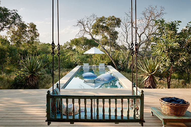 Private Pool at The Farmhouse at The Farmstead at Royal Malewane