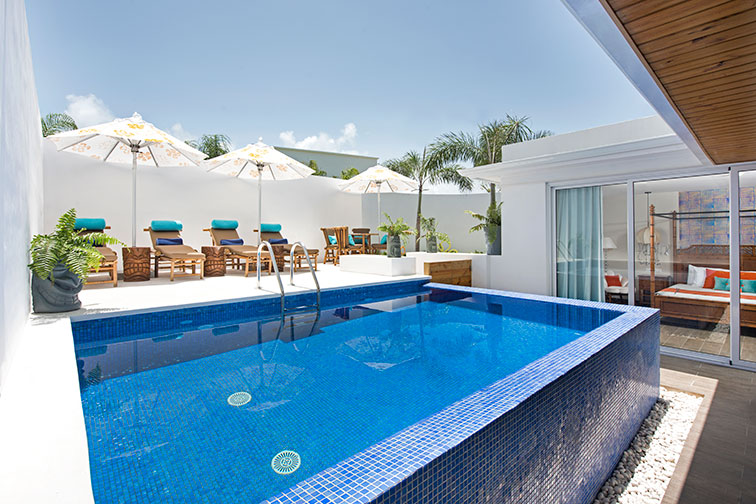 Private Pool in Pineapple Suite at Nickelodeon Hotels and Resorts Punta Cana