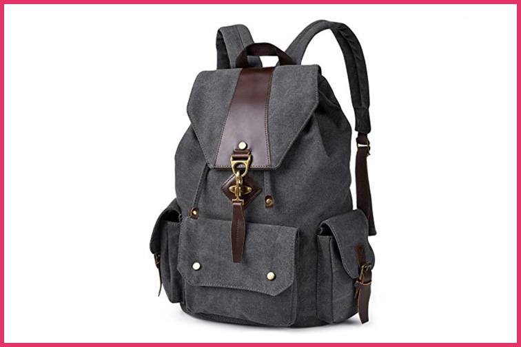 Vbiger Vintage Canvas Backpack; Courtesy of Amazon