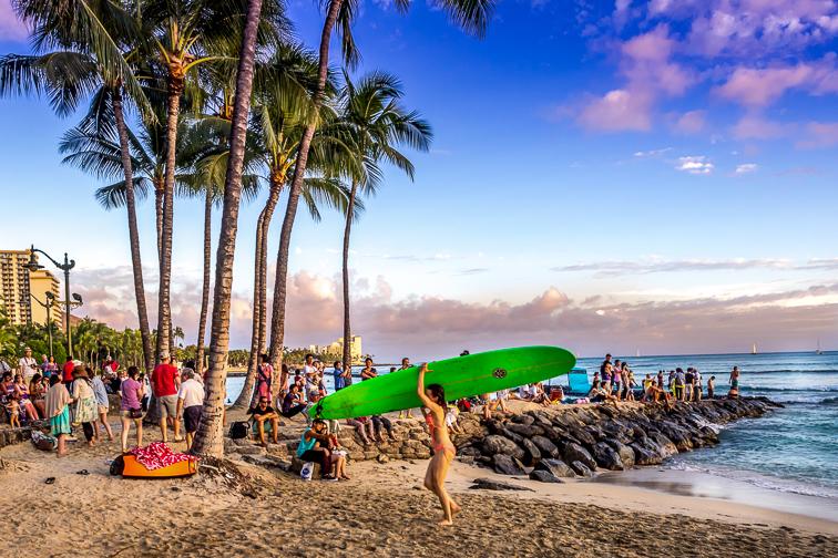 Waikiki Beach Honolulu; Courtesy Jeff Whyte/Shutterstock