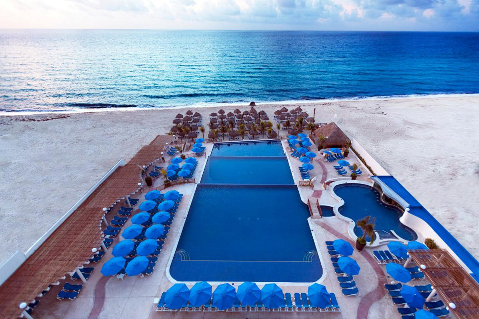 Pool and Ocean View at Seadust Cancun Family Resort - Cancun, MX - All Inclusive Resort