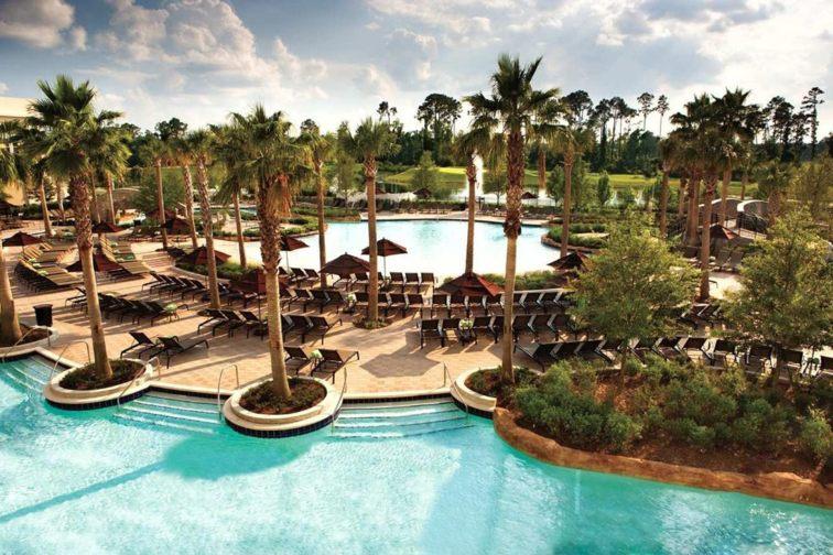 Pools at Hilton Orlando Bonnet Creek in Florida; Courtesy of Hilton Orlando Bonnet Creek