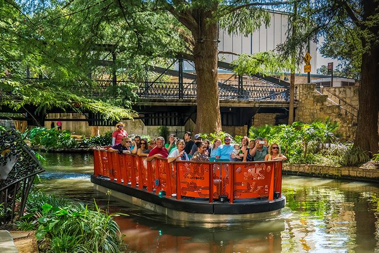 San Antonio River Boat Tour; Courtesy of Visit San Antonio