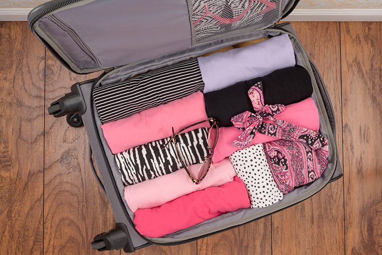 top down view of luggage; Courtesy of Kris Black/Shutterstock