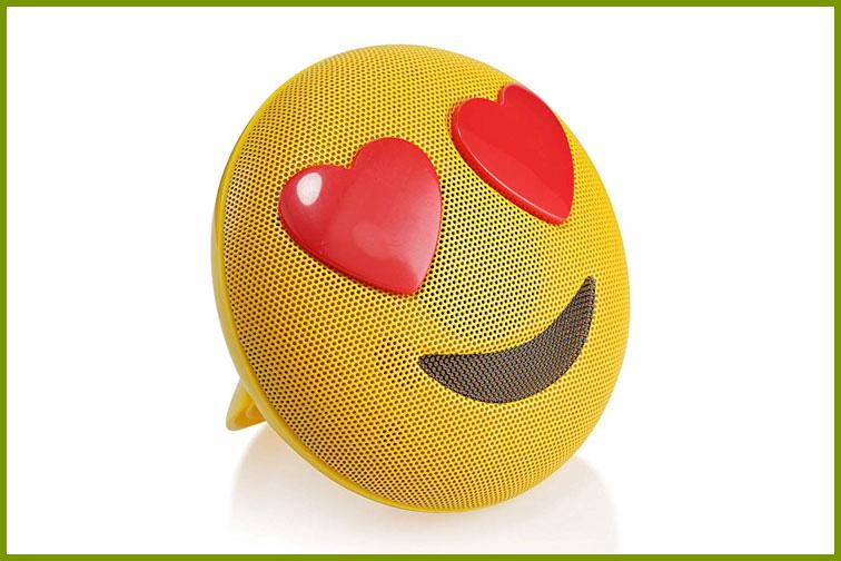 Emoji bluetooth speaker; Courtesy of Amazon