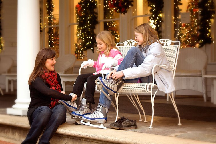 Ice Skating at The Omni Homestead Resort in Virginia
