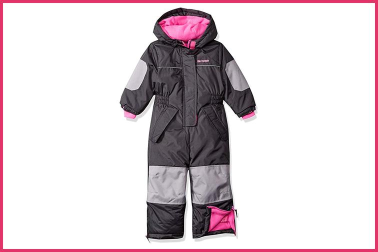 Pink Platinum Girls' Snowmobile Snowsuit; Courtesy of Amazon