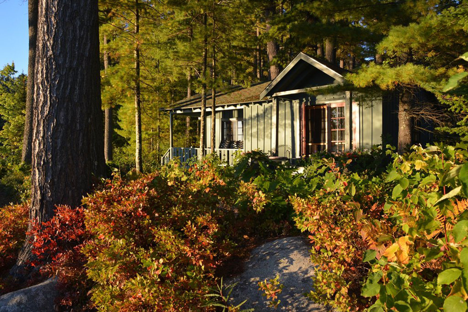 Sunset Cottage at Migis Lodge in South Casco, Maine; Courtesy of Migis Lodge