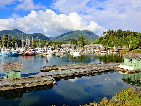 Ucluelet Harbor in Vancouver Island; Courtesy of JeniFoto/Shutterstock.com