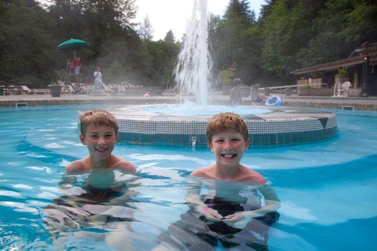 Kids at Sol Duc Hot Springs Resort; Courtesy of Sol Duc Hot Springs Resort