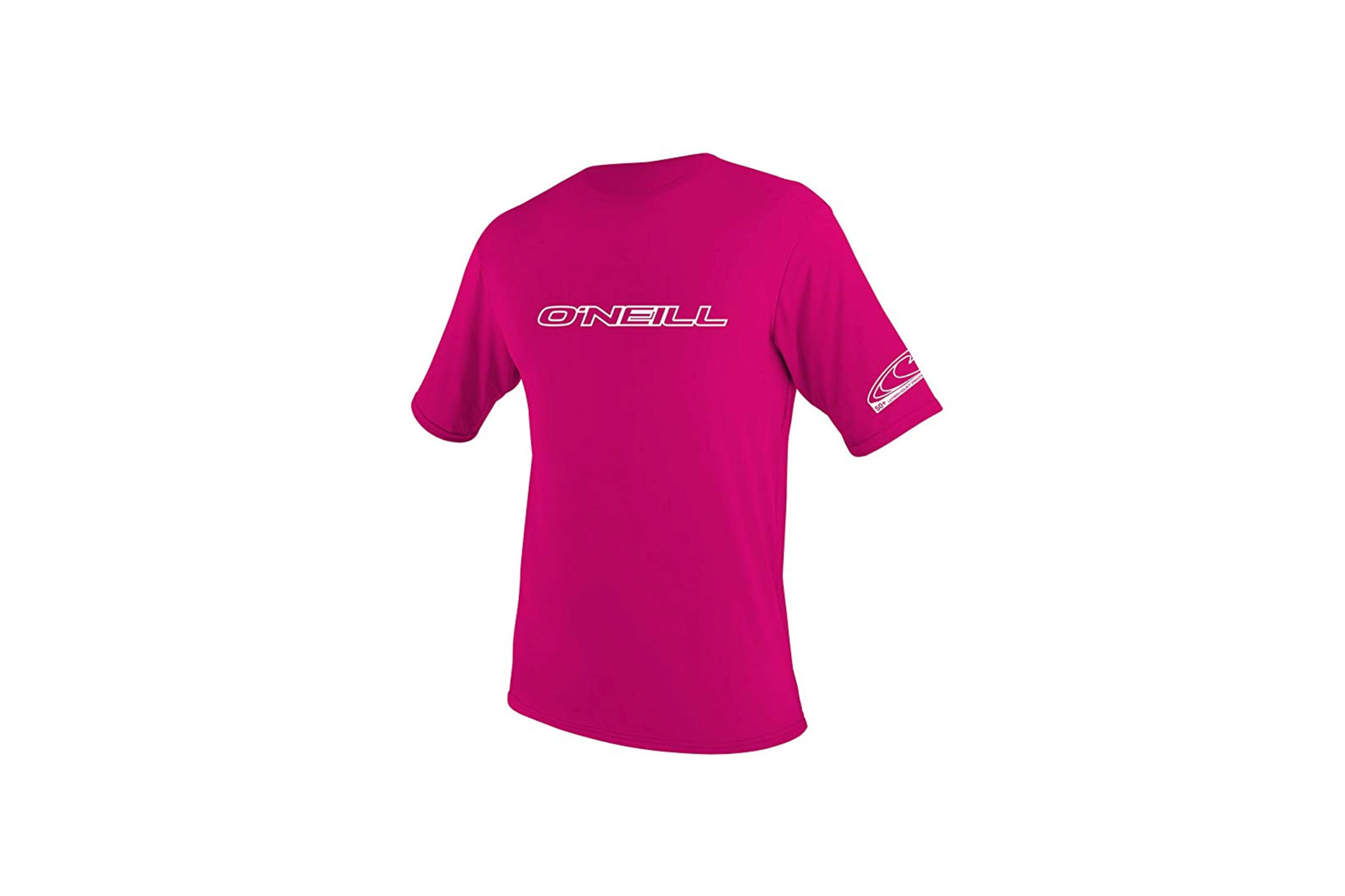 O'Neill Rash Guard in Pink; Courtesy of Amazon