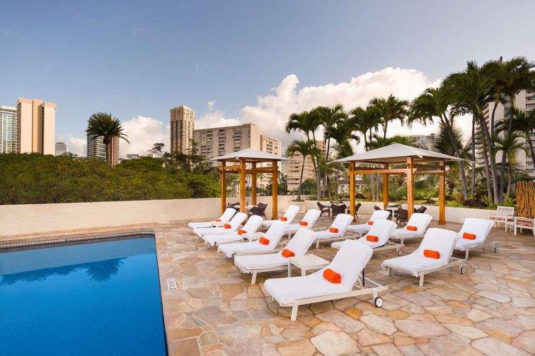Pool at Luana Waikiki Hotel and Suites; Courtesy of Luana Waikiki Hotel and Suites