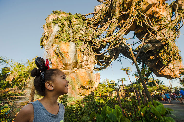 Little Girl at Pandora - The World of Avatar at Disney's Animal Kingdom