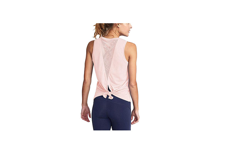 Mippo Women's Mesh Open Back Sports Tank Top