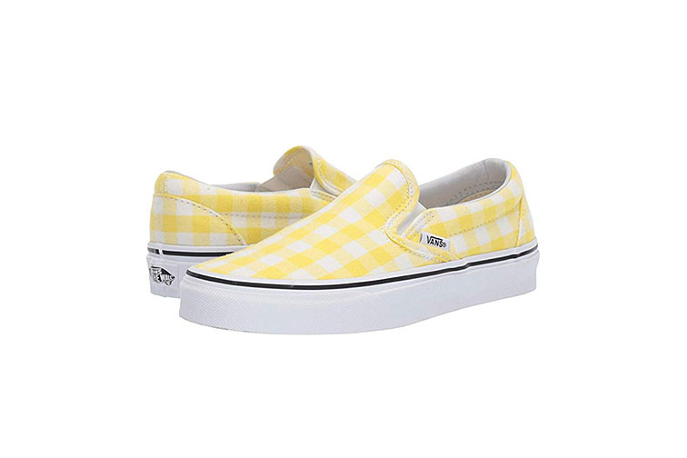Vans Slip-On Core Classics in Yellow and White Checkers