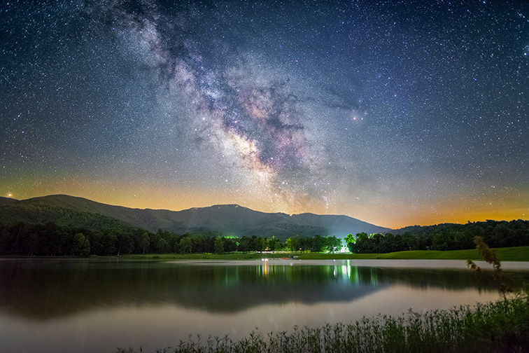 The Milky Way shining over Shenandoah National Park in Virginia within the Shenandoah Valley one summer night.; Courtesy of TempleNick/Shutterstock