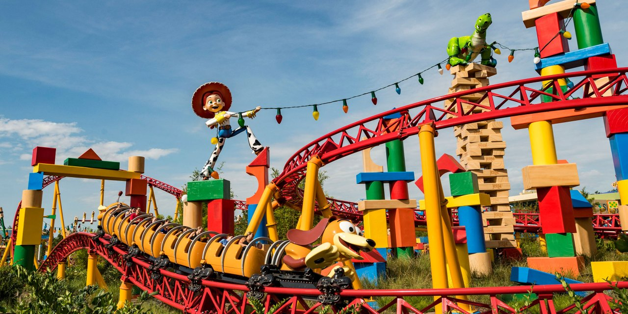 Slinky Dog Coaster at Toy Story Land at Disney World in Orlando; Courtesy of Disney