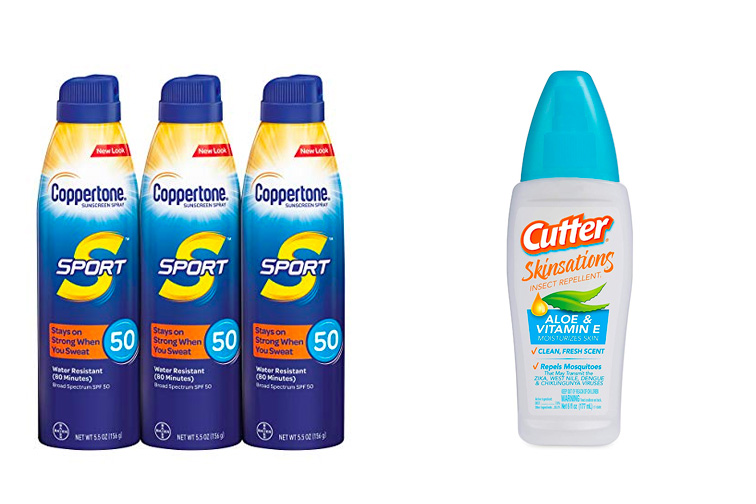 Sunscreen and Bug Spray; Courtesy of Amazon