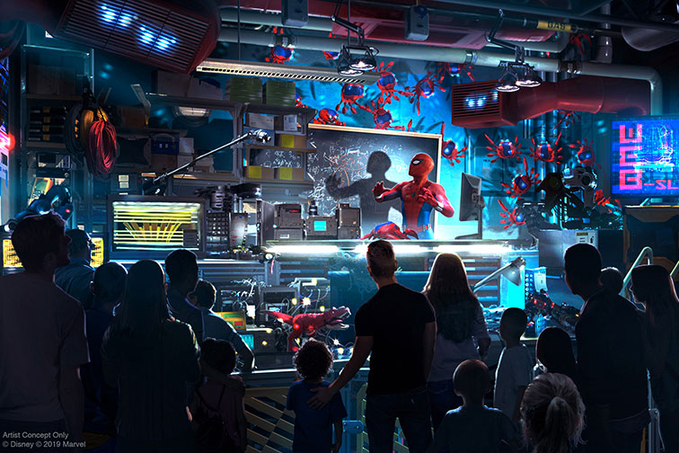 Spider-Man Attraction at Avengers Campus