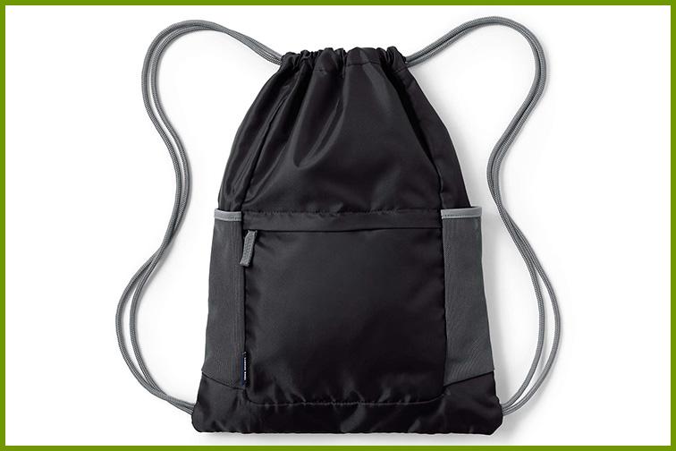 Lands' End Packable Drawstring Bag; Courtesy of Lands' End