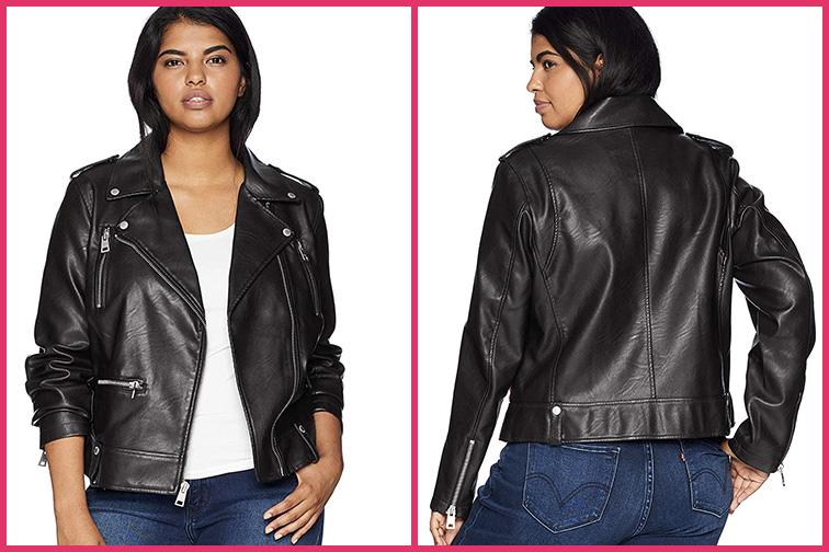Levi's Ladies Plus Size Contemporary Asymmetrical Motorcycle Jacket; Courtesy of Amazon