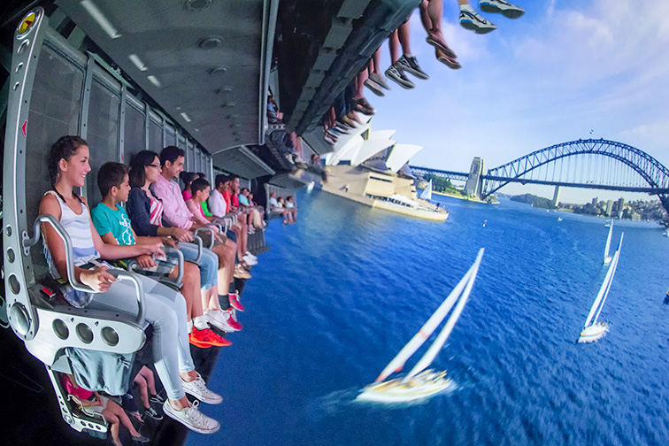 "The Soarin' Around the World attraction takes guests on an exhilarating ""flight"" above spectacular global landscapes and man-made wonders; Courtesy of Walt Disney World"