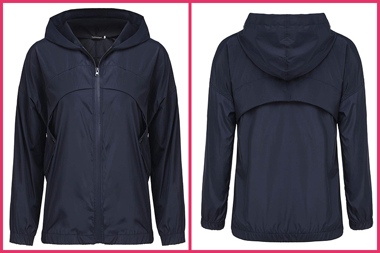 Uniboutique Womens Casual Rain Jacket; Courtesy of Amazon