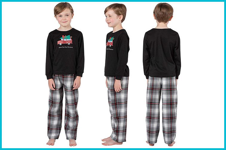PajamaGram Flannel Classic Plaid Pajamas; Courtesy of Amazon