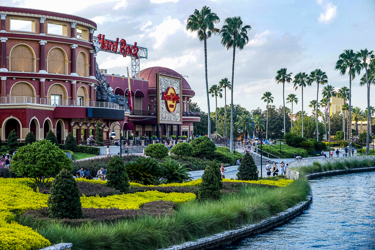Hard Rock Cafe is a rock'n'roll theme restaurant in Universal CityWalk ; Courtesy of Miosotis_Jade /Shutterstock
