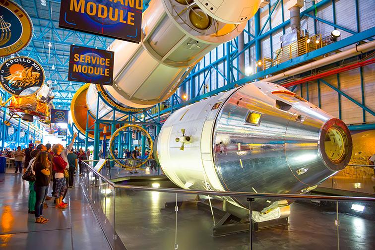 Kennedy space center at Cocoa Beach, FL; Courtesy of Zhukova Valentyna /Shutterstock