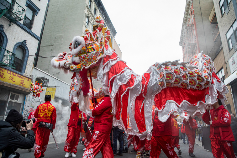 Lunar New Year Parade in Chinatown  ;Courtesy of NYC & Company