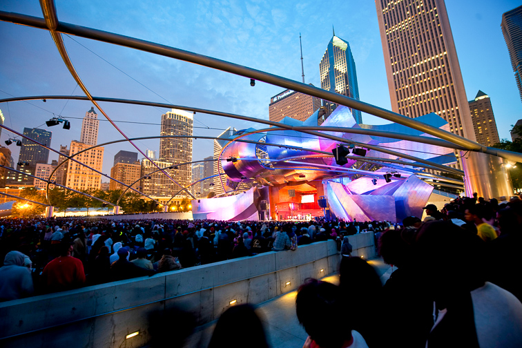 Take In a Free Concert or Movie at Jay Pritzker Pavilion;Courtesy of Choose Chicago