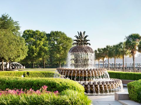Pineapple Fountain in Charleston; Courtesy Explore Charleston