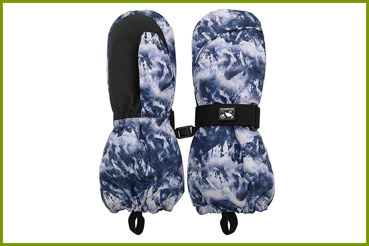 HIGHCAMP Toddler Long Sleeve Waterproof Winter Snow Ski Mittens; Courtesy of Amazon