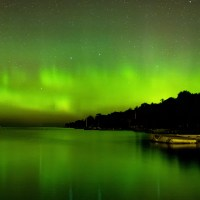 Door County, WI northern lights; Courtesy of Ben Baeb/Shuttestock