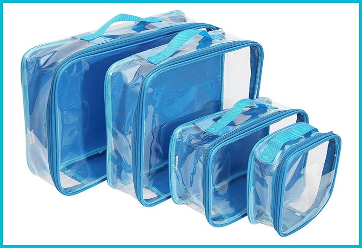 EzPacking Clear Packing Cubes; Courtesy of Amazon